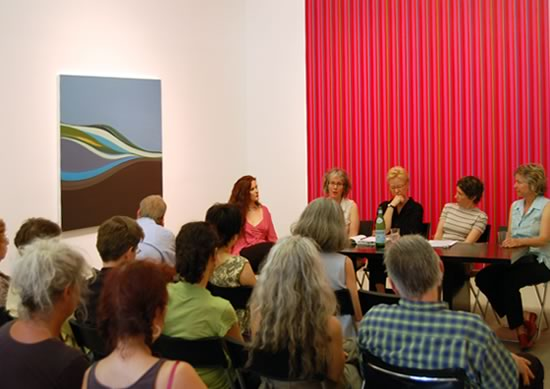 picture of panel discussion for Spectrum exhibition